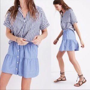 NEW Madewell stripe button skirt